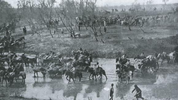 Rusko-japonská válka: Ústup ruských jednotek po bitvě u Mukdenu