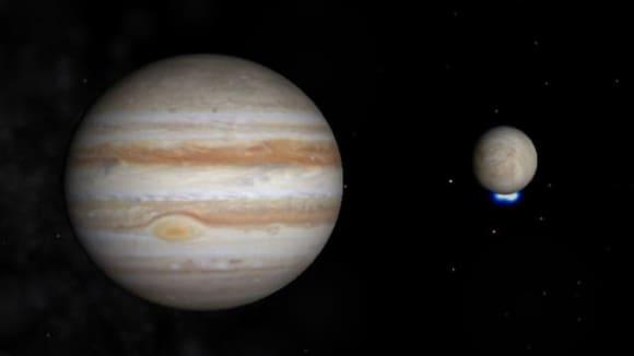 Europa a Jupiter