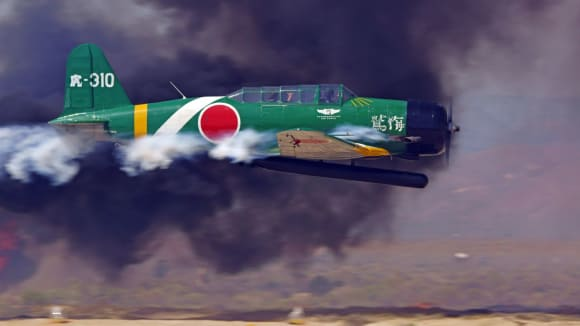 Replika japonského bombardovacího letounu Nakadžima B5N (Kate) z doby útoku na Pearl Harbor
