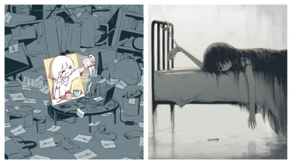 Temné příběhy japonského ilustrátora
