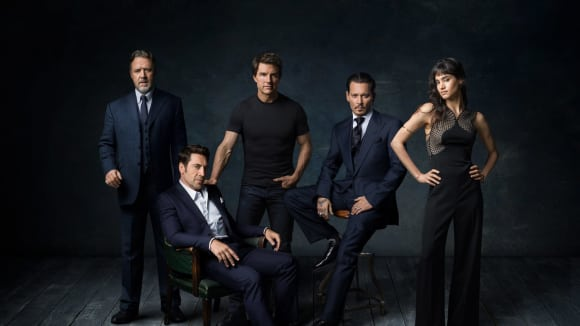 Russell Crowe, Tom Cruise, Johnny Depp, Sofia Boutella a Javier Bardem