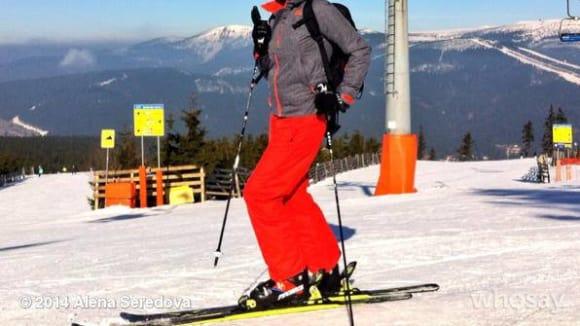 Modelka Alena Šeredová je štastná, že konečně může lyžovat