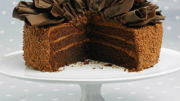 Nadýchaný čokoládový dort