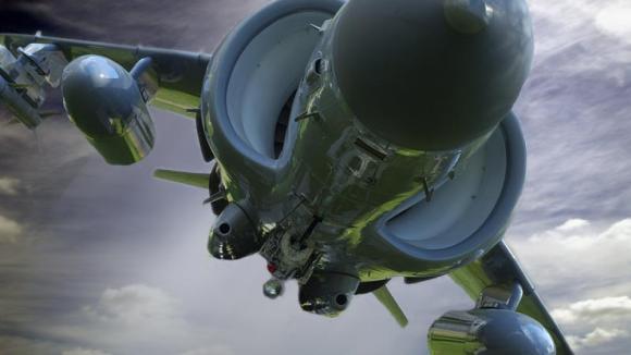 Harrier z výjimečného úhlu