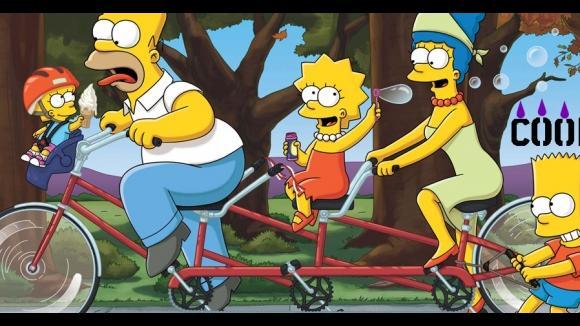 Simpsonovic rodinka na kole
