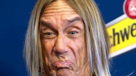 Rocker Iggy Pop má gumový obličej