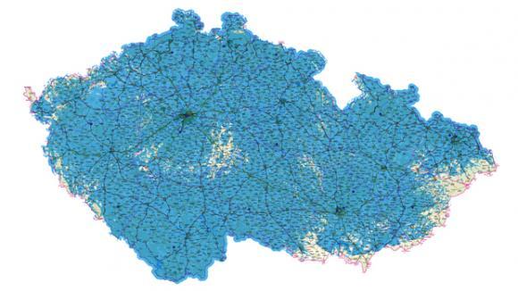Mapa pokrytí MUX3 od 1.8.2011, Prima LOVE