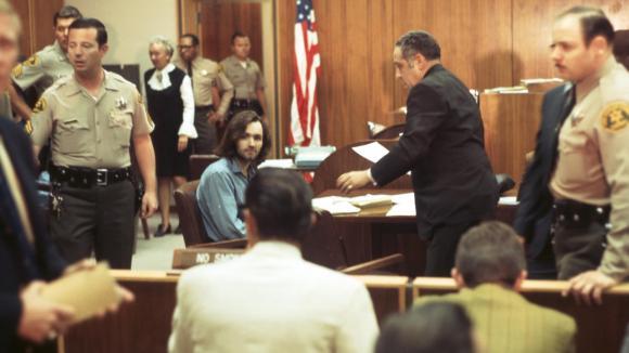 Charles Manson během soudního řízení