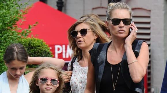 Modelka Kate Moss a její dcera Lila Grace