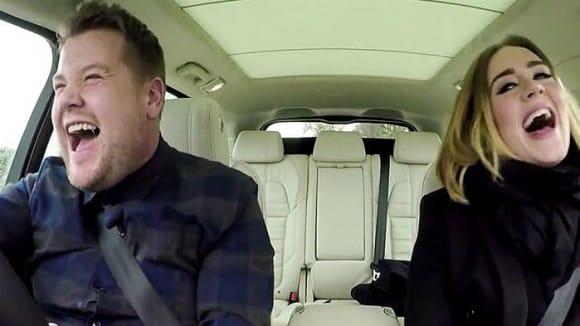 James Corden a Adele