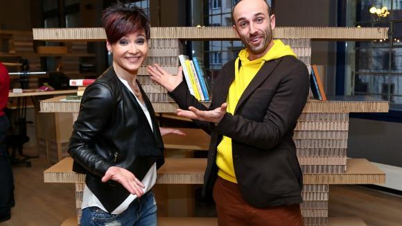Andrea Hylmarová s kolegou Markem Povolným