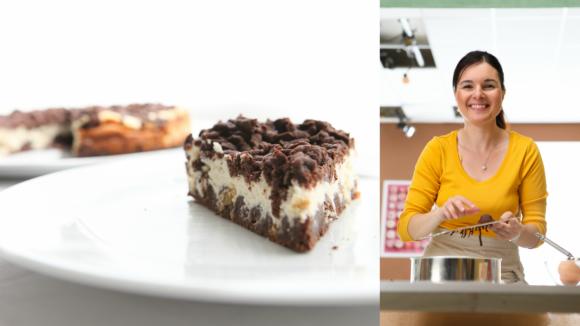 Dvoubarevný střapatý koláč podle Markéty