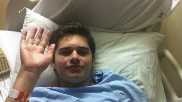 Michael Friedman po své první chemoterapii