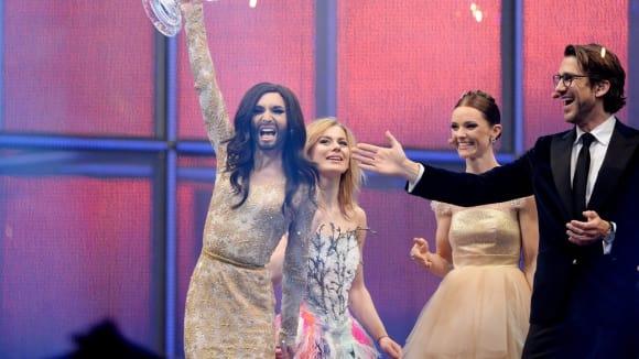 Tento travestita vyhrál soutěž Eurovision Song Contest 2014