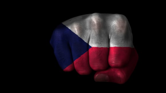 Česká vlajka, česká pěst