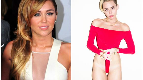 Změna Miley- před a po
