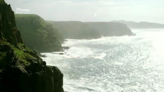 Afrika z výšky 1 - skalnaté pobřeží Jižní Afriky