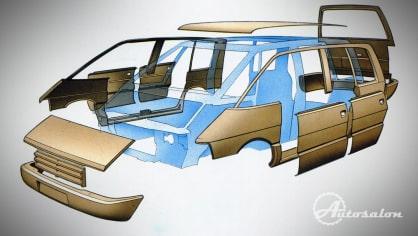 Renault Espace první generace plasty