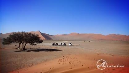 Parkoviště v poušti