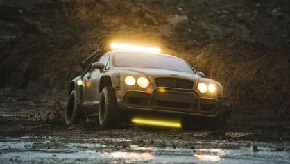 Bentley Continental GT jako terénní průzkumník. 1