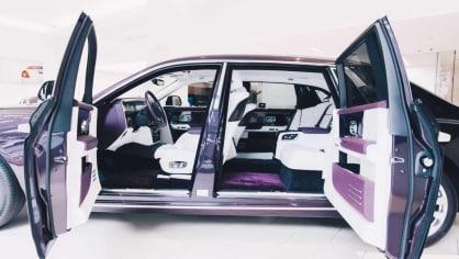 První Rolls-Royce Phantom už je na prodej. Fialový s bílou kůží 3