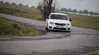 Škoda Octavia RS TDI jízda 8