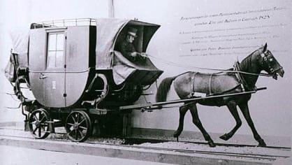Kočár nahradila v roce 1828 koněspřežná železnice