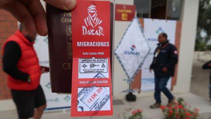Dakarská kartička pro přechod peruánsko-bolivisjkých hranic