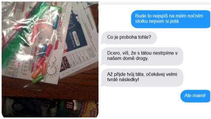 Vážně našla matka drogy?