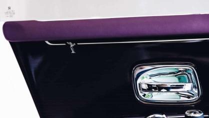 První Rolls-Royce Phantom už je na prodej. Fialový s bílou kůží 4