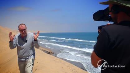 Natáčení vstupu z dun sousedících s oceánem