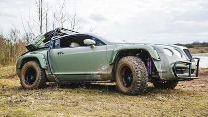 Bentley Continental GT jako terénní průzkumník. 3