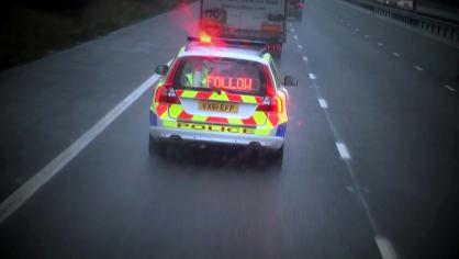 Řidiče kamionů hlídají maskované policejní tahače 9