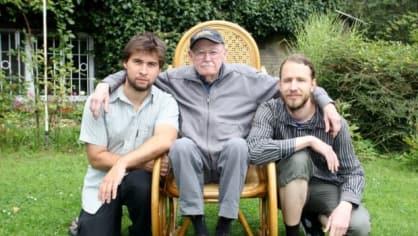 Herecká legenda se svými vnuky s Martinem Janďourkem (vlevo) a Matějem Lipským