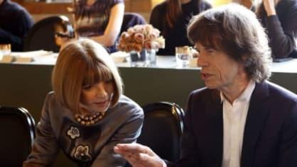 Anna Wintour a Mick Jagger na londýnském týdnu módy