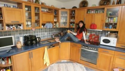 Heidi Janků ve své prostorné kuchyni