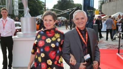 Herečka Lenka Termerová a manželem režisérem Morisem Issou