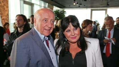 Dáda Patrasová s manželem na křtu CD Štefana Margity