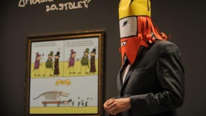Národní poklad Opráski sčeskí historje. Populární komiksy jsou vystaveny v Národním muzeu