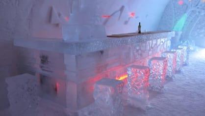 Restaurace Laino Snow Village Ice se specializuje pouze na studené pokrmy