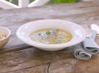 Fotografie k receptu Polévka z kapra s krutony