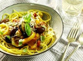 Fotografie k receptu Kukuřičné špagety s jižní zeleninou