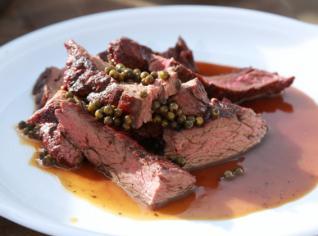 Fotografie k receptu Hovězí steak Yamato na zeleném pepři
