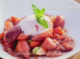 Fotografie k receptu Jahodový dezert se zmrzlinou