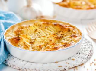 Fotografie k receptu Patate gratinate al latte (Zapečené brambory v mléce)