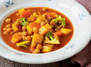 Fotografie k receptu Hřejivá polévka s cizrnou