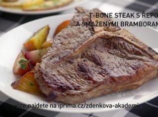 Fotografie k receptu T-bone steak s řepou a smaženými bramborami
