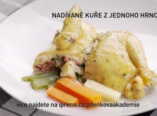 Fotografie k receptu Nadívané kuře z jednoho hrnce