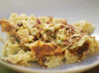 Fotografie k receptu Gratin z těstovin farfalle