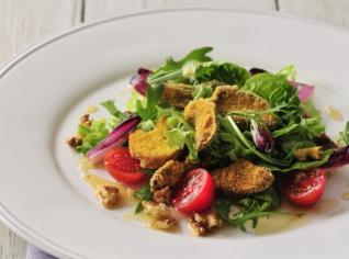 Fotografie k receptu Funghi fritti (Smažené houby na salátu)